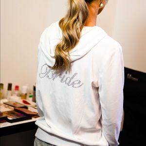 juicy couture white bride zip up jacket